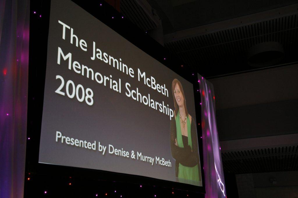 2008 Jasmine McBeth Memorial Scholarship