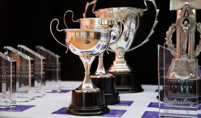 The Industry Awards trophy table